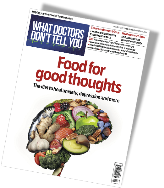 WDDTY What Doctors Don't Tell You - January 2021 issue cover